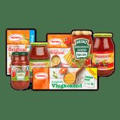 Spagheroni, Heinz pastasaus of Honig pasta
