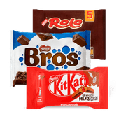 KitKat, Bros, Rolo, Smarties of Lion mini's