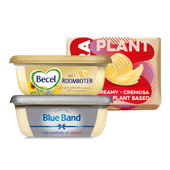 Becel of Blue Band met roomboter of Flora Plant