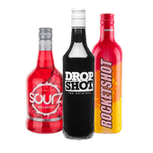 Dropshot, Rocketshot of Sourz red berry