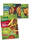 Knorr wereldgerechten, tratorria of Conimex streetfood