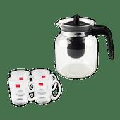 Theepot of thee-/koffieglazen