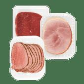 1 de Beste runderrookvlees, boeren achterhaam gerookt XL