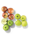 Fuji, Granny Smith of Hollandse Golden Delicious appelen
