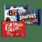 KitKat, Bros, Smarties of Lion mini's