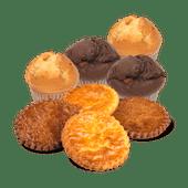 Chocolade of vanille muffins