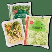 1 de Beste bami nasi groente, fijngesneden andijvie of ijsbergsla