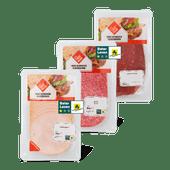Ons Thuismerk kipfilet, salami of runderrookvlees