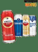 Amstel of Bavaria pilsener, blond of  0.0