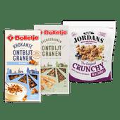 Bolletje ontbijtgranen of Jordans Crunchy