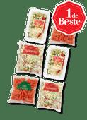 1 de Beste wortelsnack, gesneden snijbonen, bami nasigroente of pastagroente