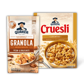 Quaker cruesli of granola