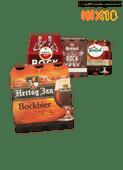 Amstel, Brand, Hertog Jan, Grolsch of Bavaria bokbier