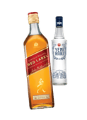 Johnnie Walker red label blended Scotch whisky of Yeni raki