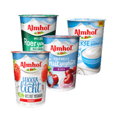 Almhof halfvol of 0% vet yoghurt