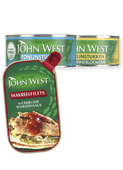 John west tonijnstukken of makreelfilets
