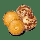 Roomboter picolientjes of mini speculaas gevulde koeken