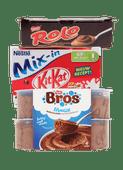 Kitkat, Bros, Rolo of Smarties toetje