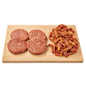 1 de Beste runderhamburgers BBQ style of varkensreepjes gyros