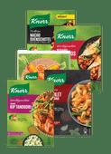 Knorr wereldgerechten, Trattoria, Conimex Streetfood of Veggie Wraps