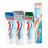 Aquafresh tandpasta of tandenborstel