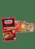 Unox rookworst of soep in blik of zak