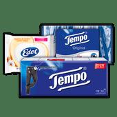 Edet vochtig toiletpapier of Tempo