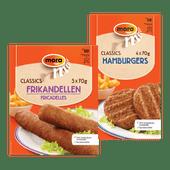 Mora frikandellen of hamburgers