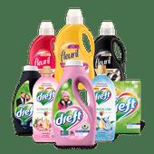 Fleuril of Dreft wasmiddel of wasverzachter