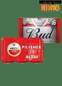 Amstel pilsener of 0.0 of Bud
