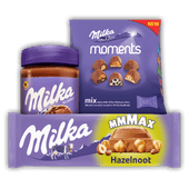 Milka Mmmax, moments of hazelnootpasta