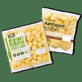 Aardappelschijfjes of minikrieltjes