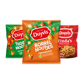 Duyvis Borrel- of Tijgernootjes of pinda's