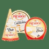 Président brie 60+, crème de brie of crème de camembert