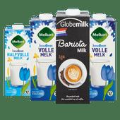 Melkan lang houdbare of lactosevrije melk of Globemilk barista