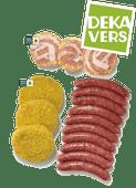 DekaVers runderchipolata's, slavlinders of cordon bleu burgers