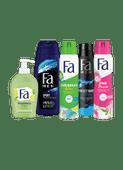 Fa deodorant, douchegel of handzeep