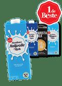 1 de Beste houdbare melk, Melkan lactose halfvol of white chocolate of Globemilk barista