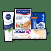 Hansaplast pleisters, Labello, Demak'up