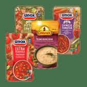 Unox of Conimex soep in zak