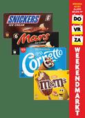 Ola Cornetto, M&M's, Snickers of Mars ijs