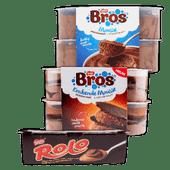 Bros, KitKat, Rolo of Smarties toetje