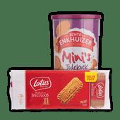 Lotus speculoos koek of Enkhuizer mini jodekoeken